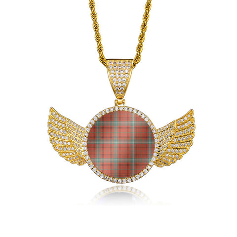 Morrison Red Ancient Wings Necklace (Gold/White Gold) A7