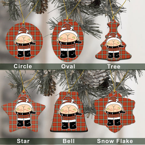 Morrison Red Ancient Tartan Christmas Decor - Ross Ceramic Ornament - Funny Style A7