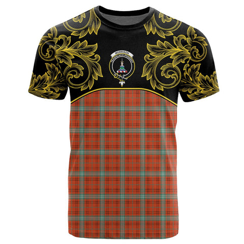 Image of Morrison Red Ancient Tartan Clan Crest T-Shirt - Empire I - HJT4 - Scottish Clans Store - Tartan Clans Clothing - Scottish Tartan Shopping - Clans Crest - Shopping In scottishclans - T-Shirt - Tee For You