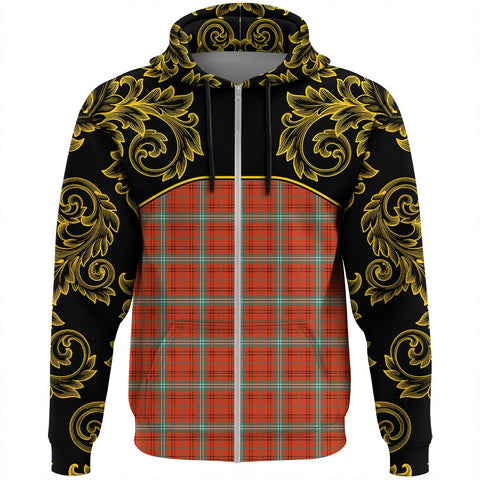 Image of Morrison Red Ancient Tartan Clan Crest Zip Hoodie - Empire I - HJT4 - Scottish Clans Store - Tartan Clans Clothing - Scottish Tartan Shopping - Clans Crest - Shopping In scottishclans - Hoodie - Pullover For You