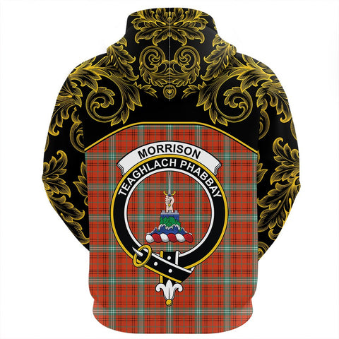 Image of Morrison Red Ancient Tartan Clan Crest Zip Hoodie - Empire I - HJT4