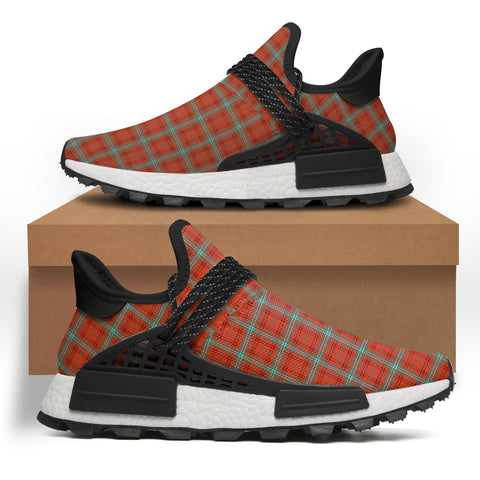 Morrison Red Ancient Tartan Sneakers - Like NMD Human Shoes (Women's/Men's) A7