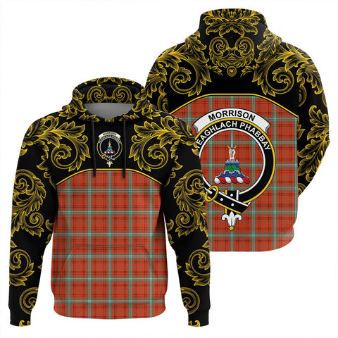 Image of Morrison Red Ancient Tartan Clan Crest Hoodie - Empire I - HJT4