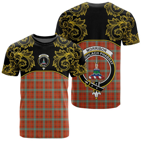 Image of Morrison Red Ancient Tartan Clan Crest T-Shirt - Empire I - HJT4