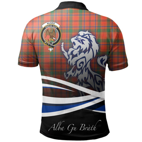 Image of Munro Ancient Polo Shirts Tartan Crest Scotland Lion A30