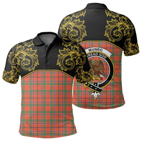 Image of Munro Ancient Tartan Clan Crest Polo Shirt - Empire I - HJT4