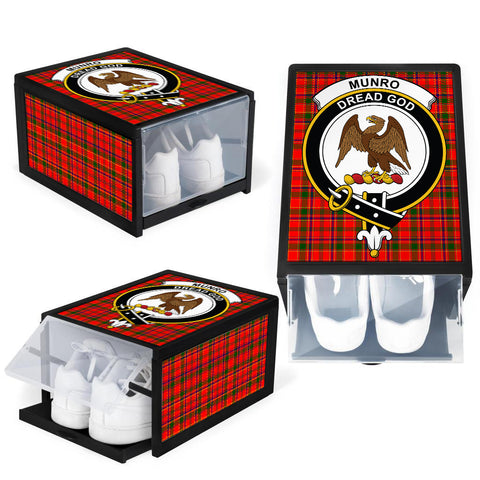 Image of Munro Modern Clan Crest Tartan Scottish Shoe Organizers K9