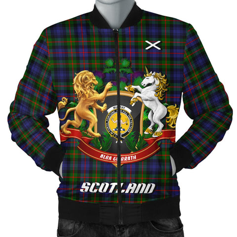 Murray of Atholl Modern | Tartan Bomber Jacket | Scottish Jacket | Scotland Clothing