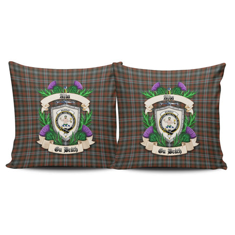 Murray of Atholl Weathered Crest Tartan Pillow Cover Thistle (Set of two) A91 | Home Set