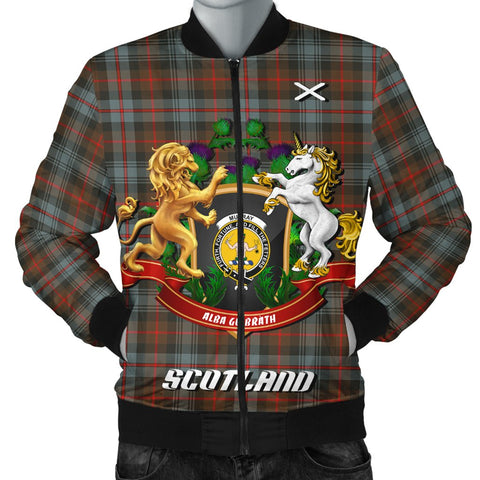 Murray of Atholl Weathered | Tartan Bomber Jacket | Scottish Jacket | Scotland Clothing