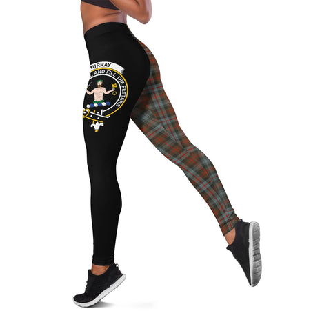 Murray of Atholl Weathered Crest Tartan Leggings | Over 500 Tartans | Special Custom Design