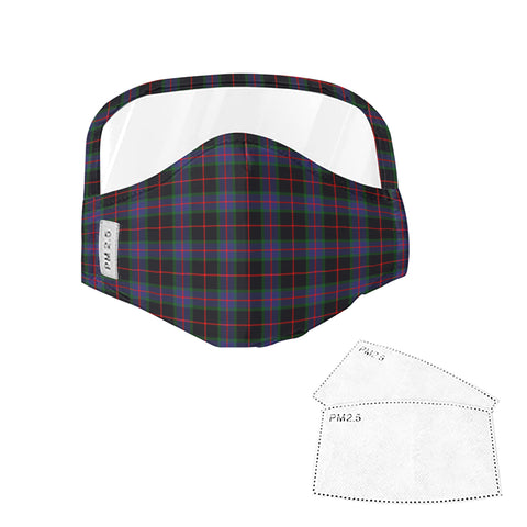 Nairn Tartan Face Mask With Eyes Shield - Blue  Plaid Mask TH8