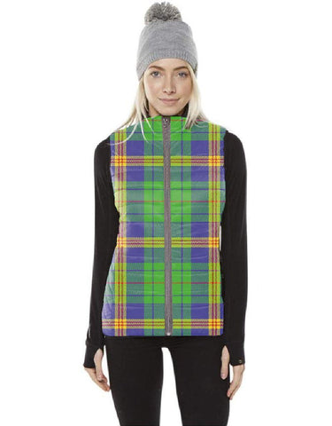 New Mexico Tartan Puffer Vest for Men and Women K7