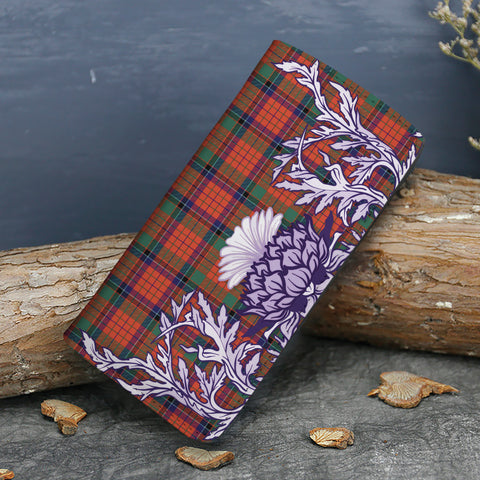 Nicolson Ancient Tartan Wallet Women's Leather Thistle A91