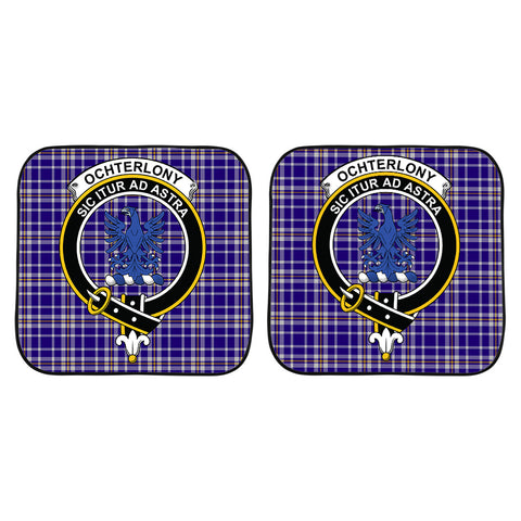 Ochterlony Clan Crest Tartan Scotland Car Sun Shade 2pcs K7