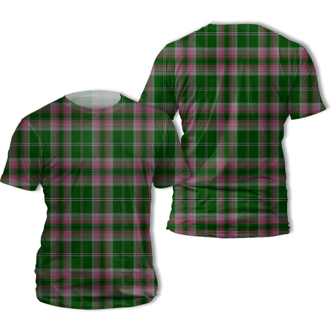 Image of Gray Hunting Tartan All Over Print T-Shirt | Scottishclans.co
