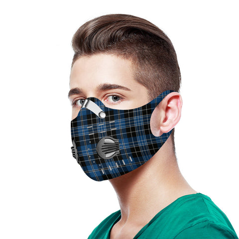 Clergy Blue Tartan Dust-proof Sports Masks - TH88