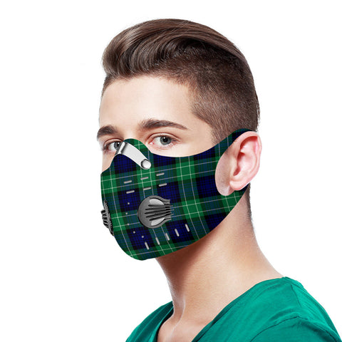 Abercrombie Tartan Dust-proof Sports Masks N95