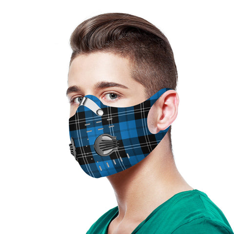 Ramsay Blue Ancient Tartan Dust-proof Sports Masks N95