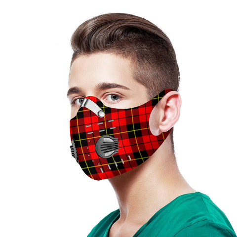 Wallace Hunting - Red Tartan Dust-proof Sports Masks