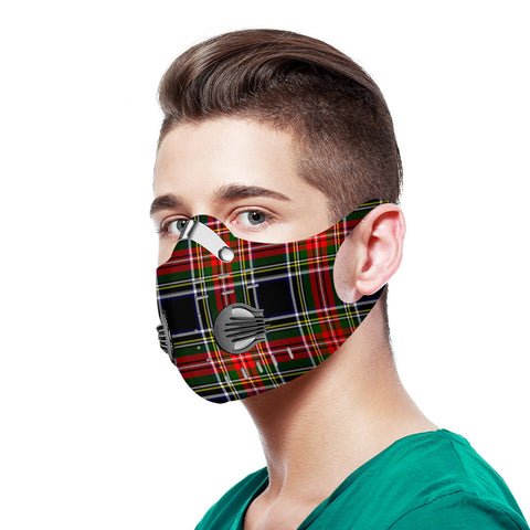 Stewart Black Tartan Dust-proof Sports Masks N95