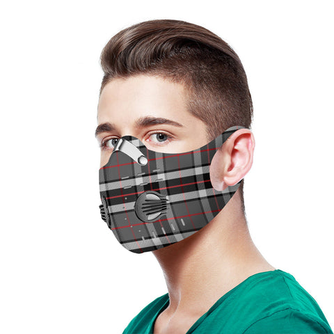 Thomson Gray Tartan Dust-proof Sports Masks N95 - TH88