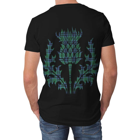 Image of Keith Ancient Tartan Clan Crest Lion & Thistle T-Shirt K6 (Z)