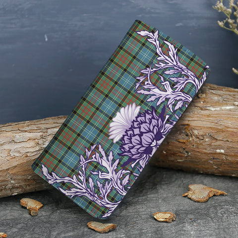 Paisley District Tartan Wallet Women's Leather Thistle A91