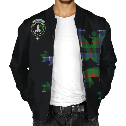Paterson Tartan Lion & Thistle Men Jacket | scottishclans.co