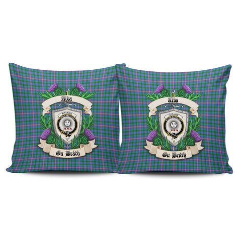 Pitcairn Hunting Crest Tartan Pillow Cover Thistle (Set of two) A91 | Home Set