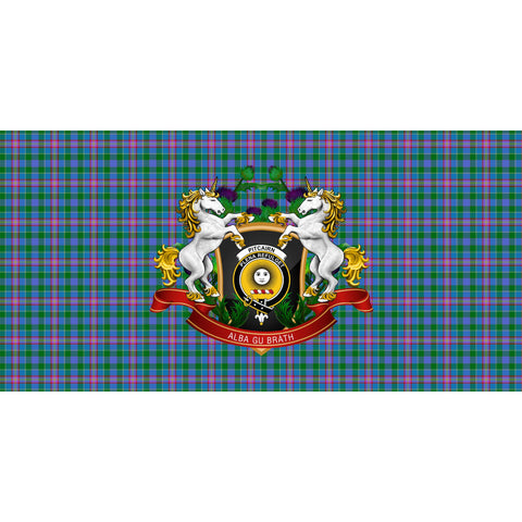 Pitcairn Hunting Crest Tartan Tablecloth Unicorn Thistle A30