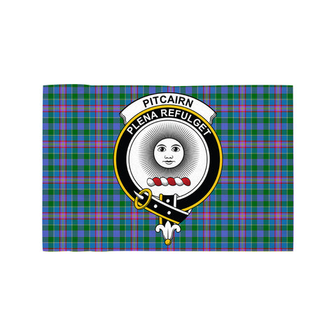 Pitcairn Hunting Clan Crest Tartan Motorcycle Flag