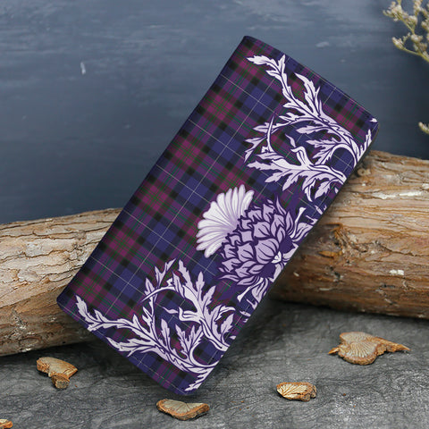 Pride of Scotland Tartan Wallet Women's Leather Thistle A91