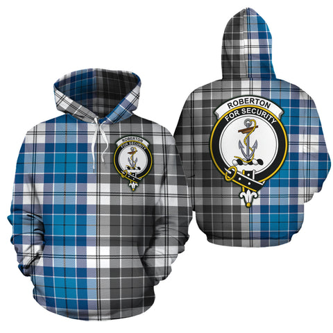 Roberton Clan Half Of Me New Version Crest Tartan Hoodie