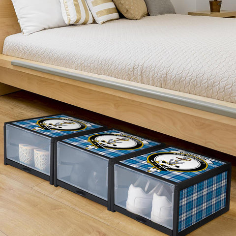 Roberton Clan Crest Tartan Scottish Shoe Organizers K9