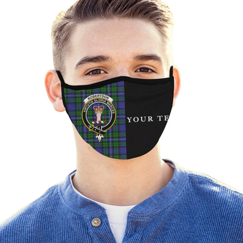 Robertson Hunting Modern Tartan Mouth Mask The Half (Custom) Th88