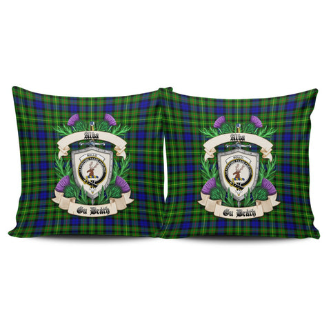 Rollo Modern Crest Tartan Pillow Cover Thistle (Set of two) A91 | Home Set