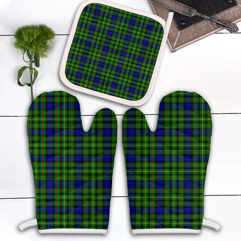 Image of Rollo Modern Clan Tartan Scotland Oven Mitt And Pot-Holder (Set Of Two)
