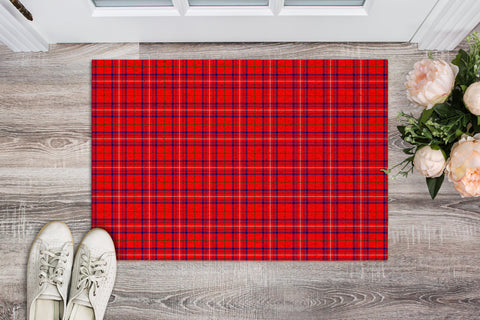 Rose Modern Tartan Carpets Front Door A91
