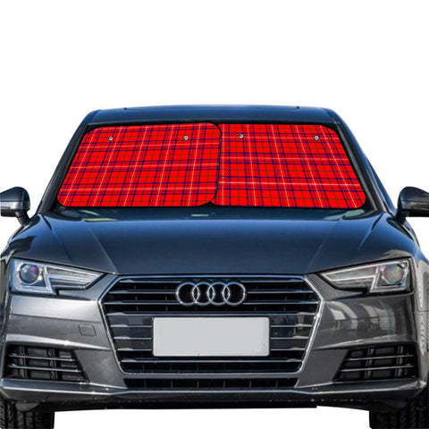Rose Modern Clan Tartan Scotland Car Sun Shade 2pcs