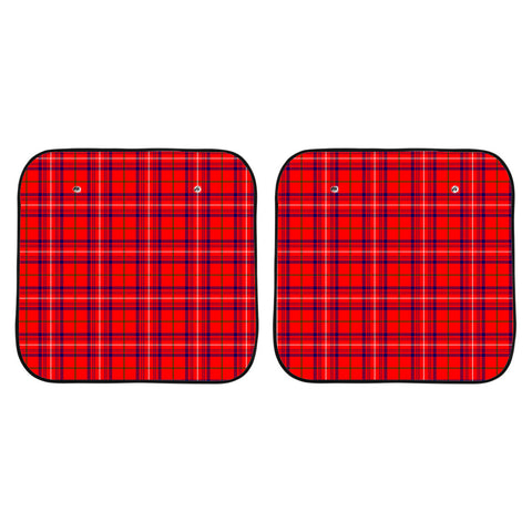 Rose Modern Clan Tartan Scotland Car Sun Shade 2pcs K7