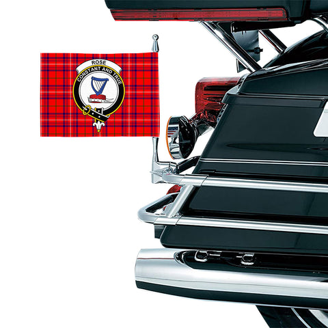 Rose Modern Clan Crest Tartan Motorcycle Flag
