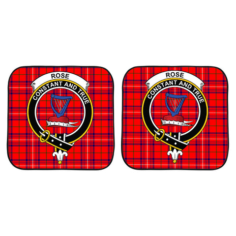 Rose Modern Clan Crest Tartan Scotland Car Sun Shade 2pcs K7