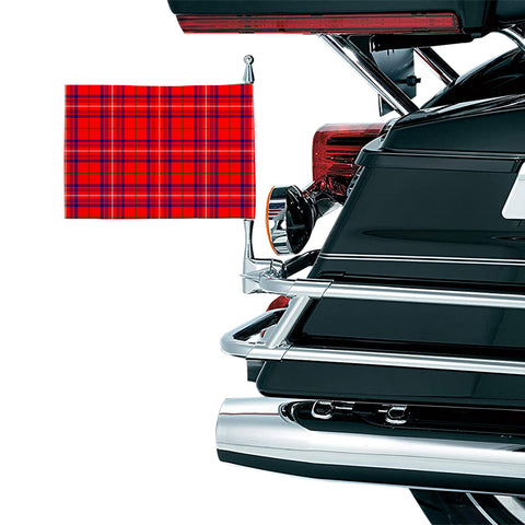 Rose Modern Clan Tartan Motorcycle Flag