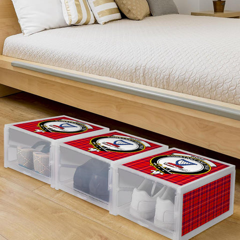 Rose Modern Clan Crest Tartan Scottish Shoe Organizers K9