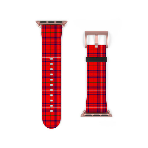 Rose Modern Scottish Clan Tartan Watch Band Apple Watch