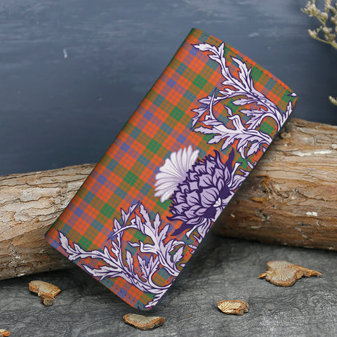 Ross Ancient Tartan Wallet Women's Leather Thistle A91