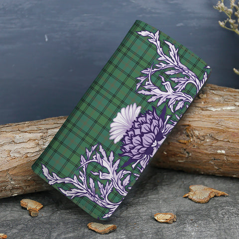 Ross Hunting Ancient Tartan Wallet Women's Leather Thistle A91