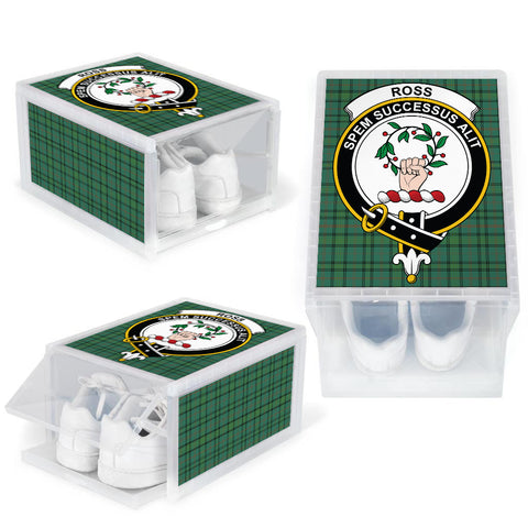 Image of Ross Hunting Ancient Clan Crest Tartan Scottish Shoe Organizers K9