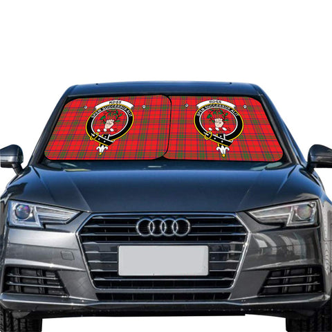 Ross Modern Clan Crest Tartan Scotland Car Sun Shade 2pcs